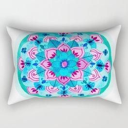 Balanced Growth Mandala Rectangular Pillow