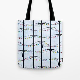 Telephone Poles - FLAGS Tote Bag
