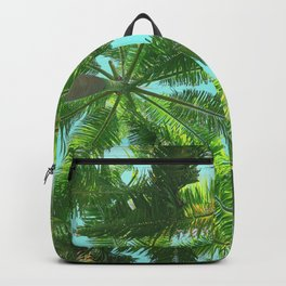 Upward View of Palm Trees Backpack