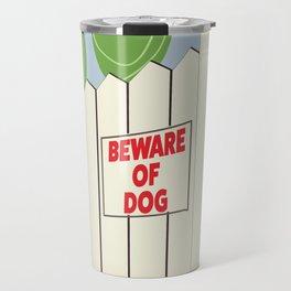Beware of Dog vintage cartoon Travel Mug