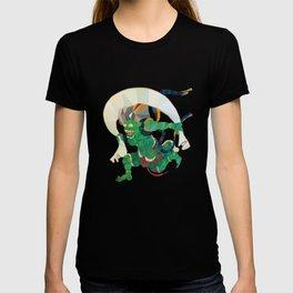 polygonal representation of Fūjin (japanese god of wind) T-shirt