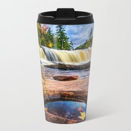 Mandio Falls - Porcupine Mountains Metal Travel Mug
