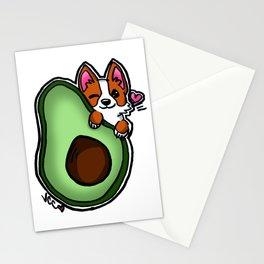 Avocado Corgi Stationery Cards