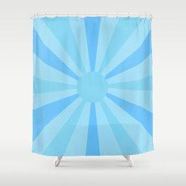 blue sunshine Shower Curtain