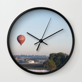 One Red Wall Clock