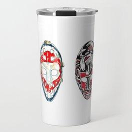 70s Fibreglass Masks Travel Mug