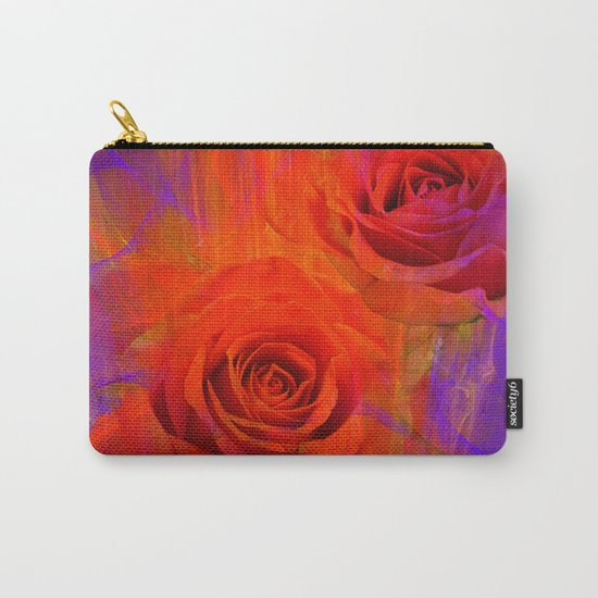 On fire with Roses Carry-All Pouch