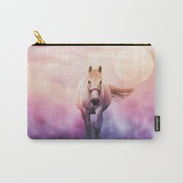 Romantic mystery horse illustration with full moon Carry-All Pouch