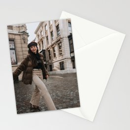model in the city Stationery Cards