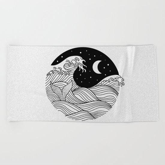 Night Swim Beach Towel