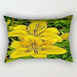 Fractal Lily Rectangular Pillow