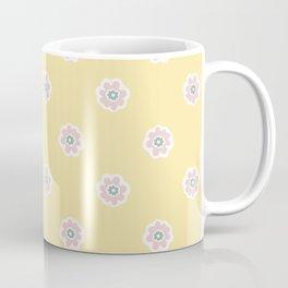 Blooming Flowers Daisy Style Seamless Pattern Coffee Mug