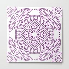 Mindful Mandala Pattern Tile MAPATI 34 Metal Print