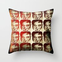 yankees Throw Pillows featuring Iron man by 6-4-3