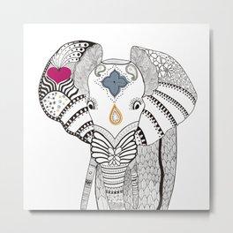 Elegant Elephant Metal Print