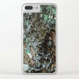 Weathered Iron rustic decor Clear iPhone Case