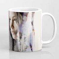 katniss Mugs featuring katniss by phoebe-designs