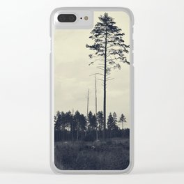 Pine tree 4 Clear iPhone Case