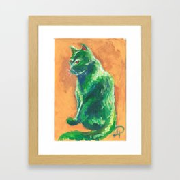 Green stalker #2 Framed Art Print