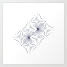 #262 Binary suns – Geometry Daily Art Print