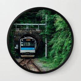 Tunnel Train Wall Clock