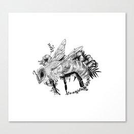 Bee - Go vegan Canvas Print