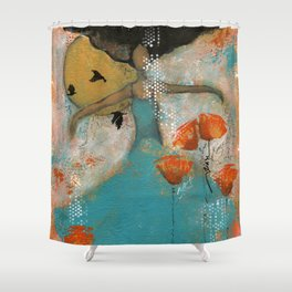 Floating. African American Art, Black Art, Women, Girls, Female Shower Curtain