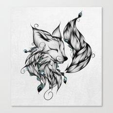 Fox B&W  Canvas Print