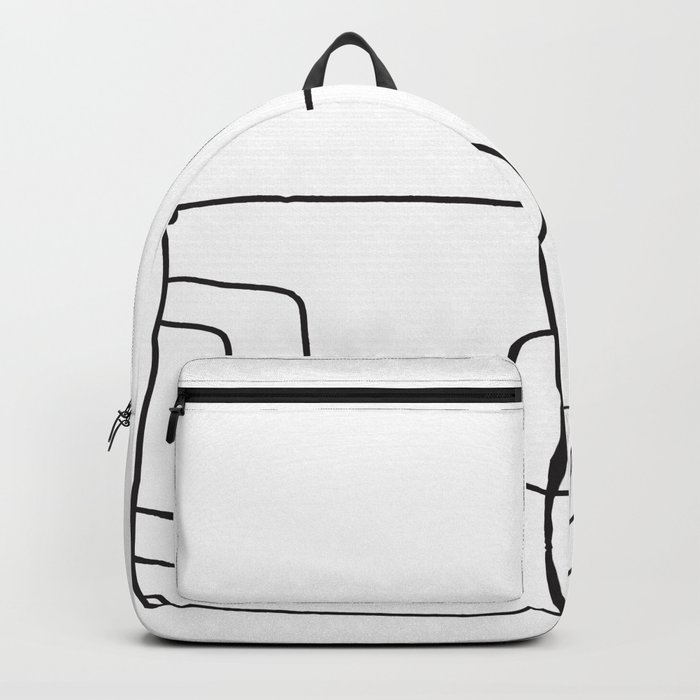 Football in Lines Backpack