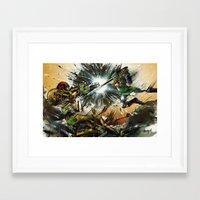 castlevania Framed Art Prints featuring The Battlefield by Fresh Doodle - JP Valderrama
