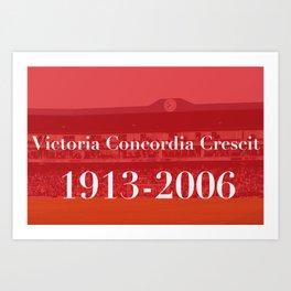 Highbury (Red) Art Print