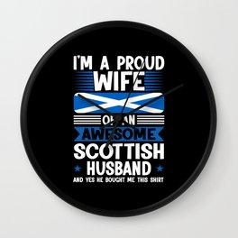 Scotland Scotland Gift Wall Clock