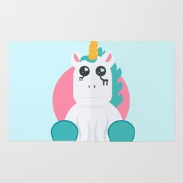 Even Unicorn's Get Sad Rug