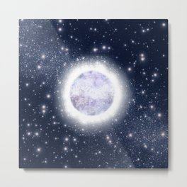 Glowing Planet Metal Print