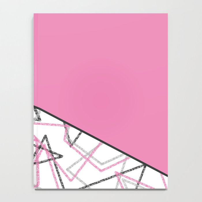 Abstract pink combo pattern . Notebook