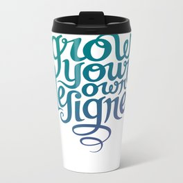 Grow Your Own Designer Metal Travel Mug