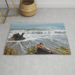 Sea and driftwood mix it up Rug