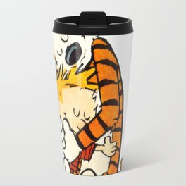 calvin and hobbes Hug Travel Mug
