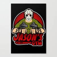 gym Canvas Prints featuring Jacon's Gym by Buby87