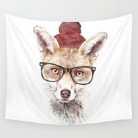 ace Wall Tapestries featuring It's pretty cold outside by Robert Farkas