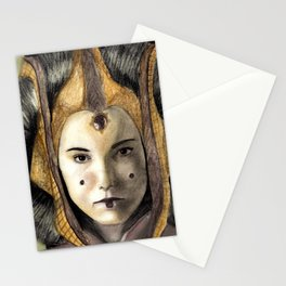Queen padme amidala Stationery Cards
