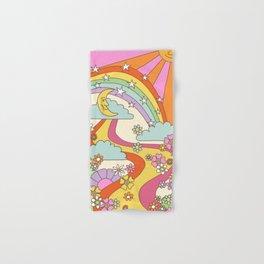 retro hippie boho print  Hand & Bath Towel