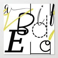Fun Typography Canvas Print
