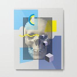 Compo with Skull Metal Print