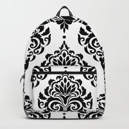 Black and White Damask Backpack