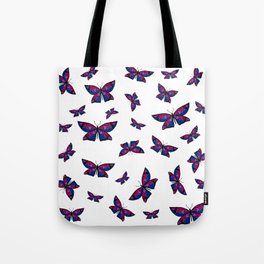 Fly With Pride: Bisexual Flag Butterfly Tote Bag