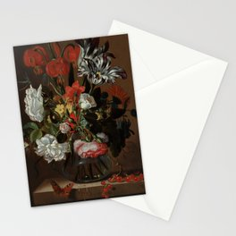 """Jacob Marrel """"Flowers in a glass vase"""" Stationery Cards"""