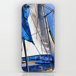 A Sailor Is An Artist And His Medium The Wind iPhone Skin