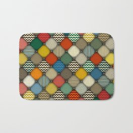 buttoned patches retro Bath Mat