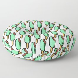 Mint Chocolate Chip Icecream Popsicles Floor Pillow